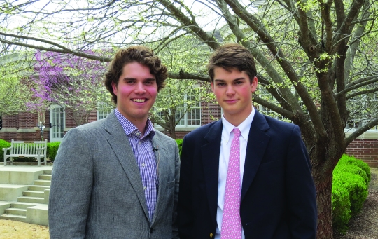 Luke Jensen and Patton Orr, co-organizers of TEDxMemphis, gave a chapel presentation detailing their plans.